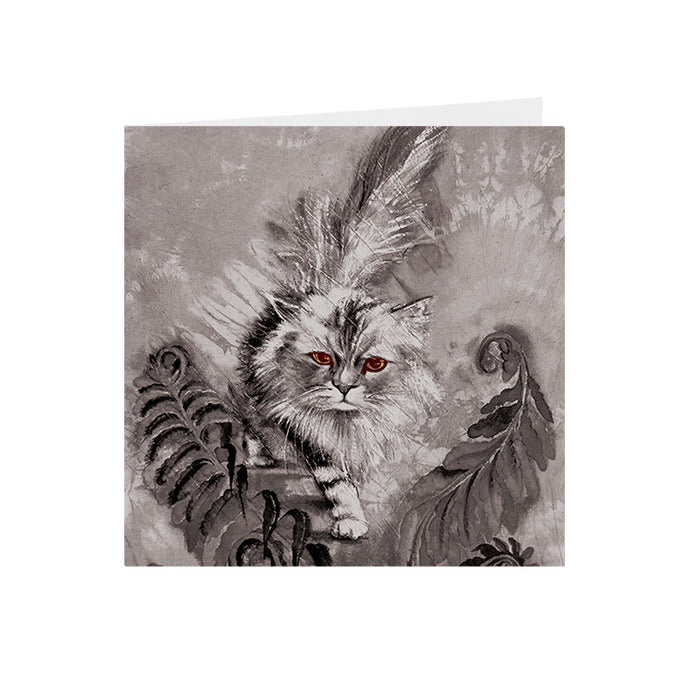 Cats - Amber eyed - Greeting Card -S_48
