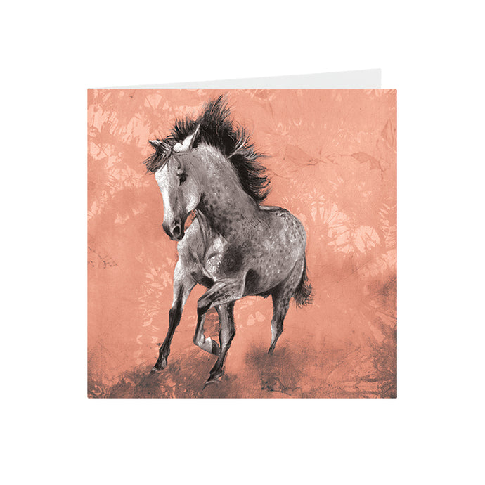 Horse - Dappled Grey - Greeting Card - S_53
