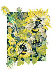 Bees in Wonderland - Busy Bees - Greeting Card - V_01