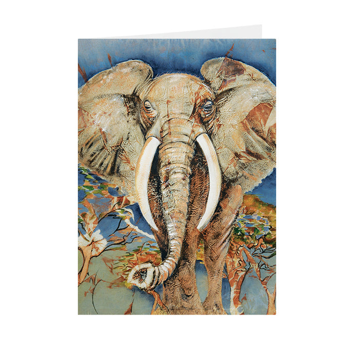 African Elephant - Greeting Card - V_05