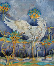 Owls in Wonderland - Barn Owl - Greeting Card - V_07