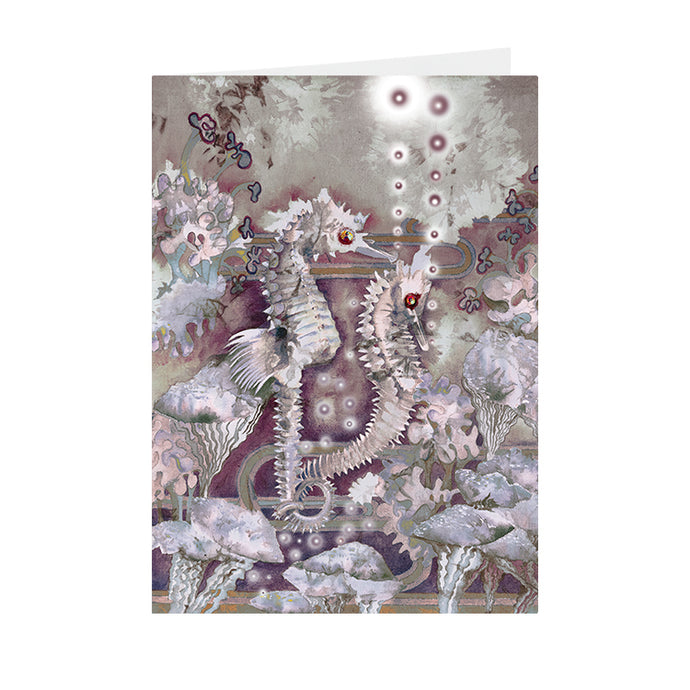 Fantasy - Sea Horse - Greeting Card - V_110
