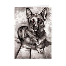 Dogs - Alsatian - Greeting Card - V_112