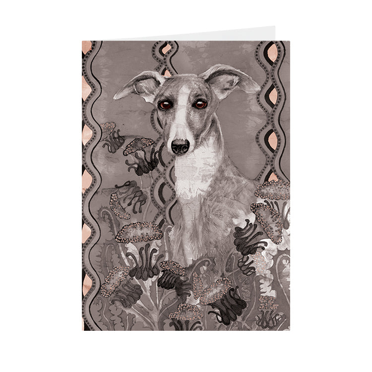 Dogs - Whippet - Greeting Card - V_115