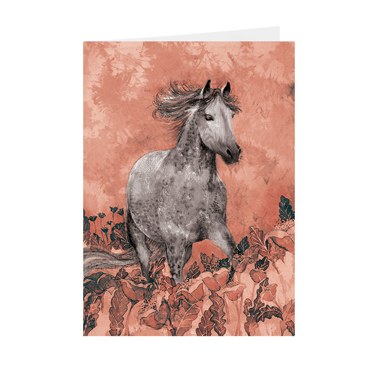Horses - Horse in Poppies - V_120