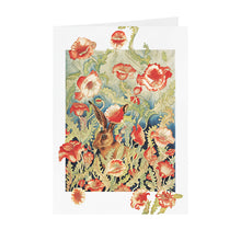 Hares in Wonderland - Poppies & Hare - Greeting Card - V_12