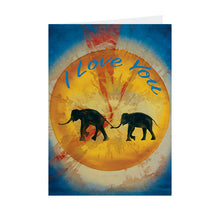 "Silhouettes - ""I Love You"" Elephant - Greeting Card - V_14"