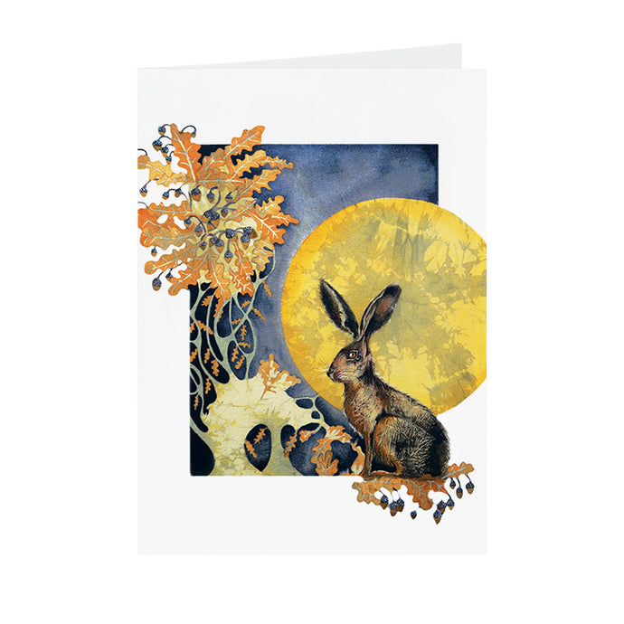 Hares in Wonderland - Moonlight Hare - Greeting Card - V_18