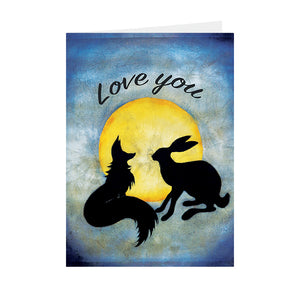 Silhouettes - Love You - Greeting Card - V_19