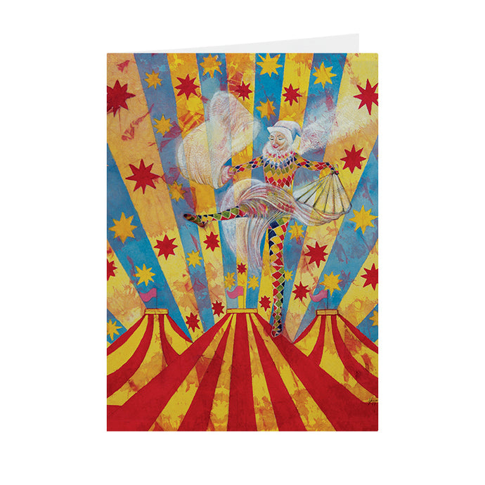 Circus Harlequin - Dancing Harlequin - Greeting Card - V_32