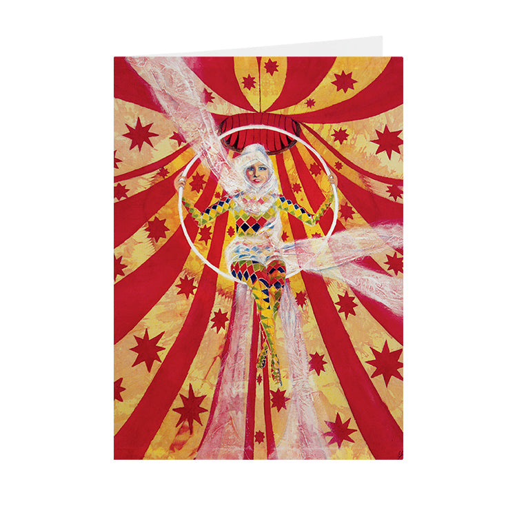 Circus Harlequin - Trapeze artist - Greeting Card - V_33