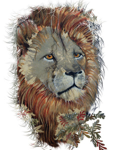 Lion - Greeting Card - V_41