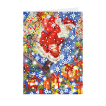 Christmas - Skiing Santa - Greeting Card - V_89