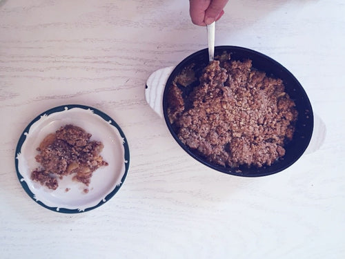 La Cuisine de Mathilde - Making Fall Apple Crisp