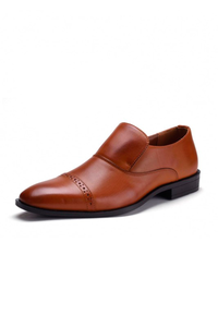 Zapatos Formal Derby Miel