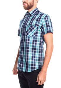 Camisa Mc Slim Fit Underwater Azul