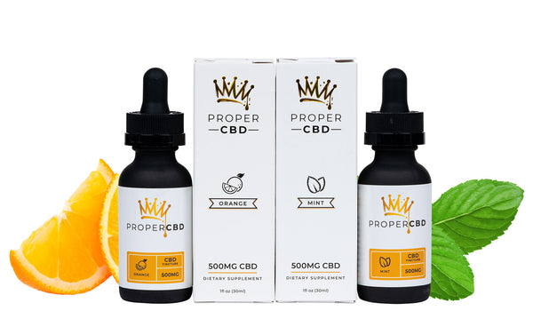 Flavored Pure CBD Tinctures - Mint and Orange