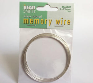 Memory Wire silver plated - 12 Runden, Ø 6.35 cm - bead&more