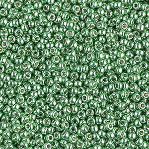 Miyuki 11/0 Round Seed Bead, Farbe Duracoat Galv. Dk Mint Green - bead&more