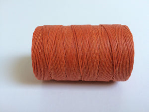 gewachstes Leinengarn / Irish Waxed Linen, Farbe 11 orange crush