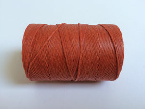 gewachstes Leinengarn / Irish Waxed Linen, Farbe 12 light rust