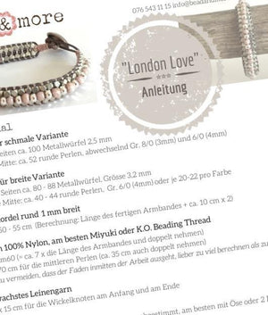 Anleitung Armband London Love - als PDF-Download - bead&more