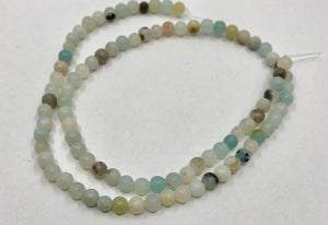 Halbedelstein Perlen Amazonite 4 mm - Farbe turquoise multicolor - bead&more