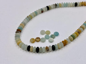 Halbedelstein Perlen Disc Amazonite 4 x 2 mm - Farbe turquoise multicolor - bead&more