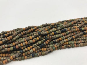 Aged Picasso Glasperlen 4 mm - Farbe Seaweed mix - bead&more