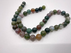 Naturstein Perlen Achat 8 mm - Farbe green multicolor - bead&more