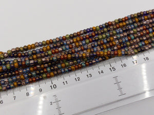 Aged Picasso Glasperlen 4 mm - Farbe Festive Mix - bead&more