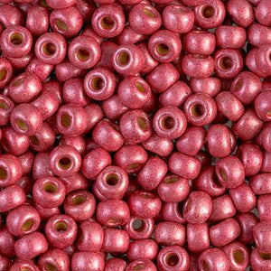 Miyuki 6/0 Round Seed Bead, Farbe Duracoat Matte Galv Lt Cranberry - bead&more