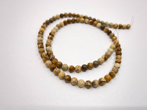 Naturstein Perlen 4 mm - Farbe camel brown - bead&more