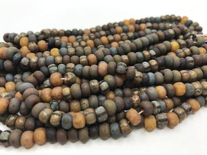 Aged Picasso Glasperlen 6 mm - Farbe Earth Mix - bead&more