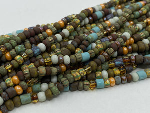 Aged Picasso Glasperlen 4 mm - Farbe Happy Summer Mix - bead&more
