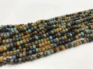 Aged Picasso Glasperlen 4 mm - Farbe Carribbean Blue Mix - bead&more