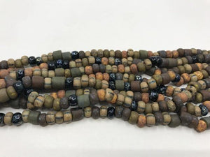 Aged Picasso Glasperlen 6 mm - Farbe Earth Black Mix - bead&more