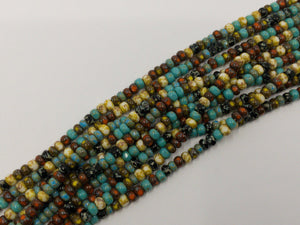 Aged Picasso Glasperlen 4 mm - Farbe Forest Multi Picasso Mix - bead&more
