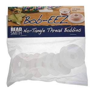 Kordel-Spulen / No-Tangle Thread Bobbins, 9.5 cm - 4 Stück - bead&more