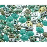 Superduo Matubo Glasperlen 2.5 x 5 mm Farbe 13 African Turquoise - bead&more
