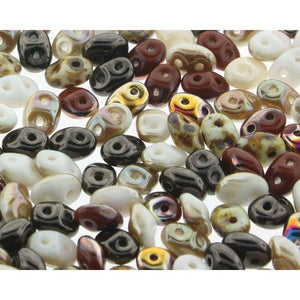 Superduo Matubo Glasperlen 2.5 x 5 mm Farbe 21 Calico Cat - bead&more