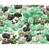 Superduo Matubo Glasperlen 2.5 x 5 mm Farbe 41 Chocolate Mint - bead&more