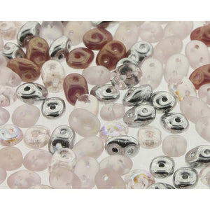 Superduo Matubo Glasperlen 2.5 x 5 mm Farbe 11 Barely Pink - bead&more