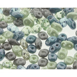 Superduo Matubo Glasperlen 2.5 x 5 mm Farbe 42 April Showers - bead&more