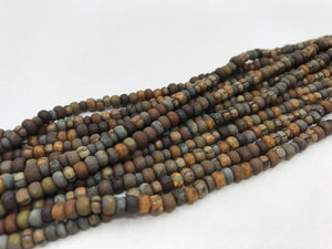 Aged Picasso Glasperlen 4 mm - Farbe Earth Mix - bead&more