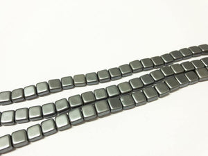 CZECH MATES 2-LOCH TILE 6MM, Farbe 08 SILVER MATTE - bead&more