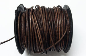 Lederkordel rund 1,5 mm, Farbe 10 natural saddle brown - bead&more