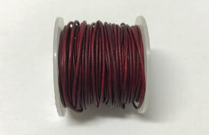 Lederkordel rund 1 mm, Farbe 15 deep natural red - bead&more