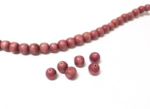 Perlen aus Holz, 6 mm, Farbe B35 natural rose - bead&more