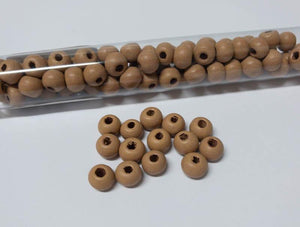 Perlen aus Holz, 6 mm, Farbe B462 light soft brown - bead&more